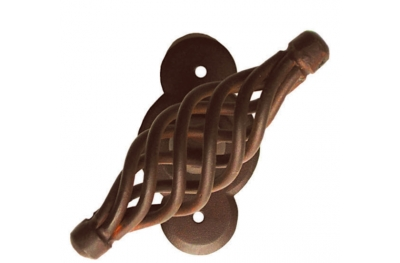 Budapest Galbusera Window Handle with Rosette Wrought Iron