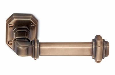 Busiri Bronze Door Handle on Rosette Classical Art Made in Italy by Antologhia