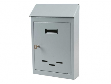 Steel Grey Painted Mail Box Small or Medium Size with One Key IBFM