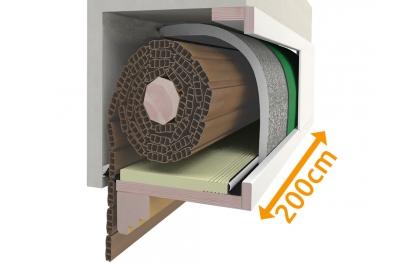 Insulated Roller Shutter Box Custom Kit 200 cm PosaClima Renova
