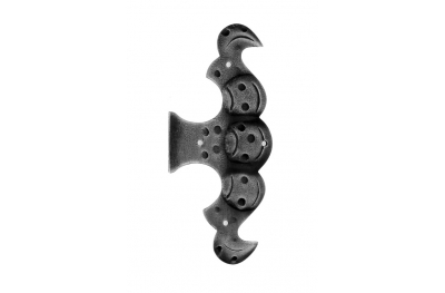 Feint Hinge with Plate 175x75mm for Windows and Doors Galbusera Wrought Iron