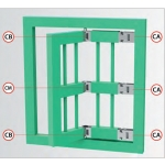 Heavy Duty Hinge for Grilles Various Types IBFM