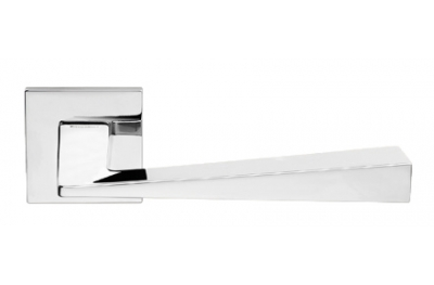 Conica Zincral Basic Linea Calì Polished Chrome Pair of Door Lever Handles