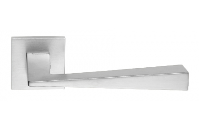 Conica Zincral Basic Linea Calì Satin Chrome Pair of Door Lever Handles