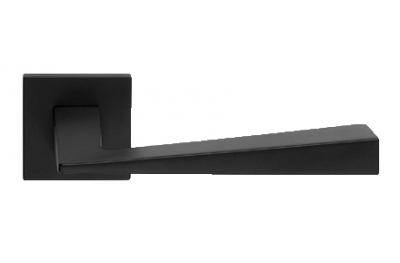 Conica Zincral Basic Linea Calì Matt Black Pair of Door Lever Handles