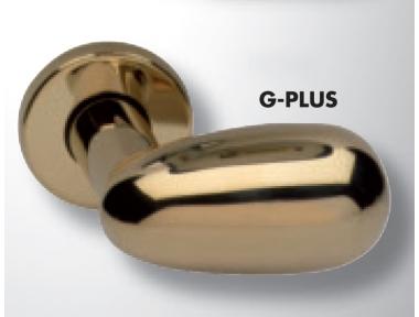 Pair of Ghidini Lever Handles Pigna G-PLUS M36 with Roses and Escutcheons