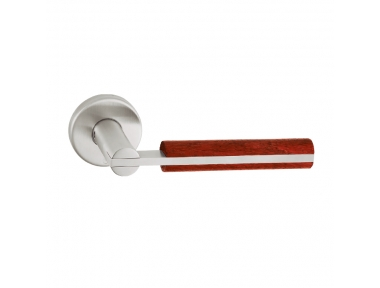 pba 2002.YOD Pair of Lever Handles in Wood and Stainless Steel AISI 316L