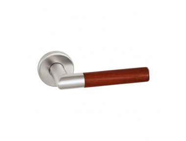 pba 2003.YOD Pair of Lever Handles in Wood and Stainless Steel AISI 316L