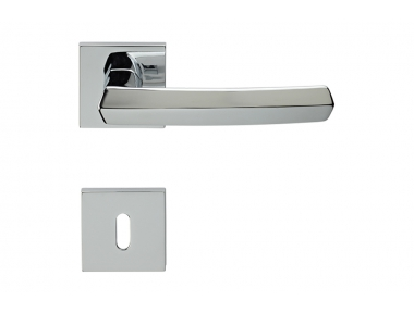 Dafne Door Handle With Square Rose for Modern-Vintage Architecture Linea Calì