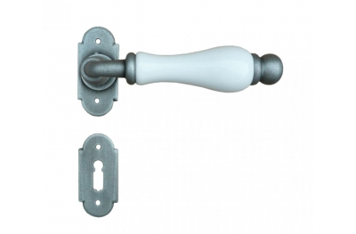Dublin 2 Galbusera Door Handle with Rosette and Escutcheon Plate