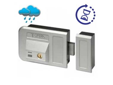 Silver Electric Rim Lock With Key for Gates Doors 28001 Gate Lock Series Opera