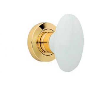 Flavia 685 RO 103 OL Door Knob by Linea Calì with White Porcelain Handle