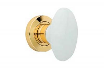 Flavia 685 RO 103 OL Door Knob by Linea Calì with White Porcelain Handle