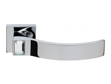 Elios Crystal Polished Chrome Door Handle on Rosette Linea Calì Crystal