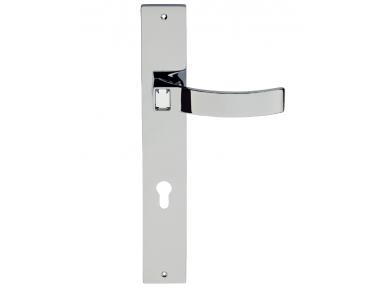 Elios Crystal Door Handle on Plate Linea Calì Crystal
