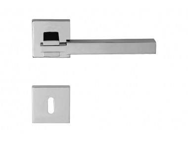 Elle Door Handle With Geometric Rose for Architecture Firm Linea Calì