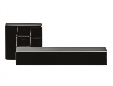 Ellesse Graphite Door Handle on Rosette With Black Color by Colombo Design