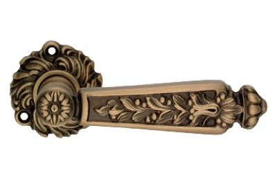 Epoca Patinè Mat Door Handle on Rosette Linea Calì Vintage