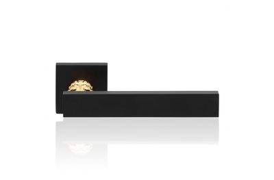 Era Matt Black Door Handle With Rose Modern Antique Linea Calì Design