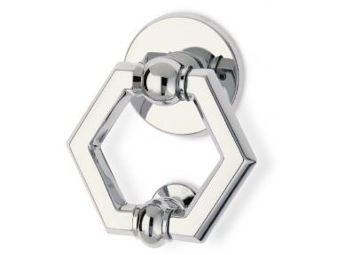 Esagono Ø120 Brass Knocker for Door PFS Pasini