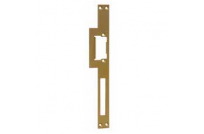 Gold Long Striking Plate for Electric Strikes Omnia Radial 03030.1GDR Opera