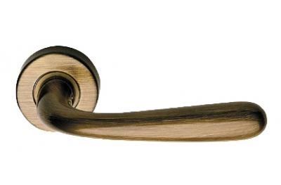Garda Zincral Basic Linea Calì Bronzed Brass Pair of Door Lever Handles