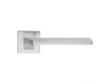 Giro Zincral Satin Chrome Door Handle With Rose of Plastic Dynamic Shape Design Linea Calì Design