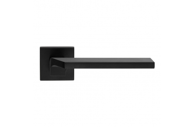 Giro Zincral Matt Black Door Handle With Rose of Creative Made in Italy Style Linea Calì Design