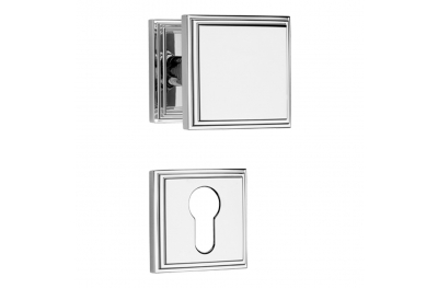Glamor Door Turnable Knob With Rose With Click-Clack Ultra-Rapid Mounting System Linea Calì Vintage