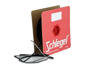 Brush seal Schlegel Polybond 4,8x9mm Without Fin Black Roll 225m