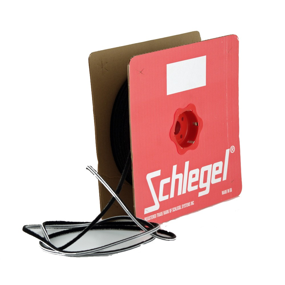 Brush seal Schlegel Polybond 6,9x1300mm Without Fin Black Roll 150m