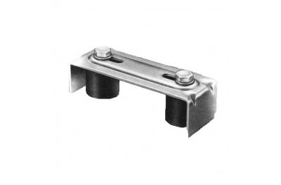 Upper guide 2 Olive Nylon Savio for Sliding Gates Galvanized Steel