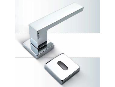 H4 Sicma Smart Line Door Handle with Square Rosette and Escutcheon