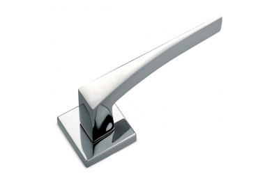 H5 Sicma Smart Line Door Handle with Square Rosette and Escutcheon