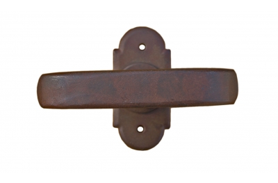 Helsinki Galbusera Window Handle with Rosette Wrought Iron