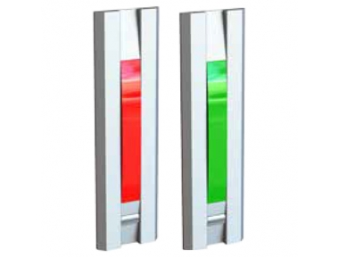Red Green Indicator Lamp With Push Button for Doors 55031 Profilo Series Opera