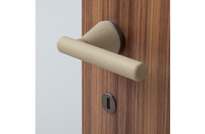 Juno Minimalist Cement Door Handle Sand Color by Dubini Designer for Mandelli