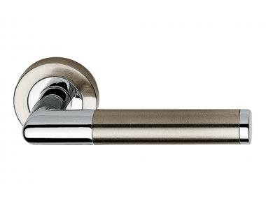 Karina Satin Nickel + Polished Chrome Door Handle Linea Calì