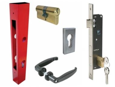 Basic Kit for Gates Composed of Tube Lock Handles Cylinder Plates IBFM