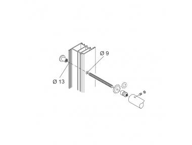 Through Fixing Kit pba 01 Single Pull Handle Wooden Aluminium Iron Doors