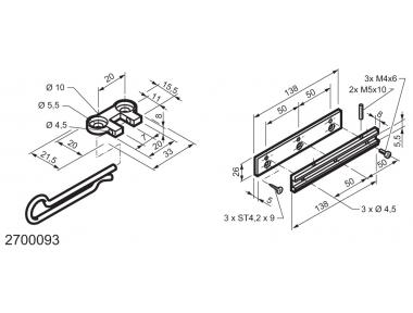 Universal Kit for Fitting Top-Hinged Windows WAY Mingardi
