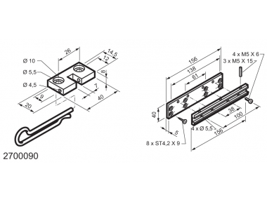 Universal Kit for Fitting Top-Hinged Windows WAY Mingardi Micro L and XL