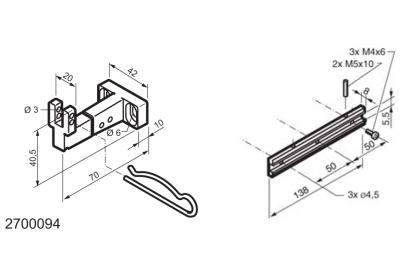 Universal Kit for Fitting Bottom-Hinged Windows WAY Mingardi