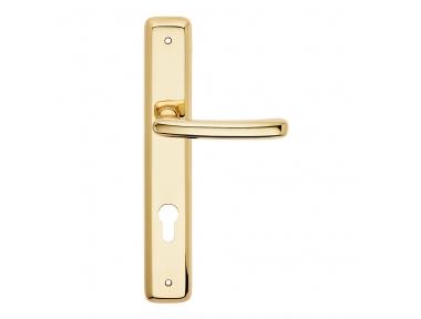 Lena Series Basic forme Door Handle on Plate Frosio Bortolo Italian Classic Design