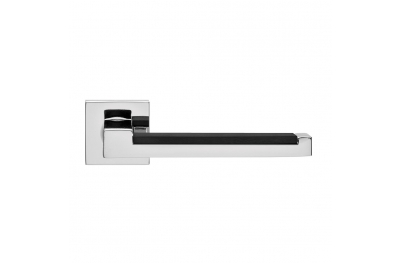 Lucca Handle with a black insert Square Rose Brass PFS Pasini i-Design