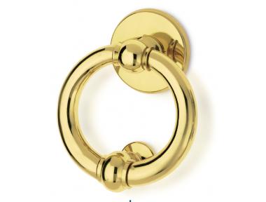 Luna Ø150 Brass Knocker for Door PFS Pasini