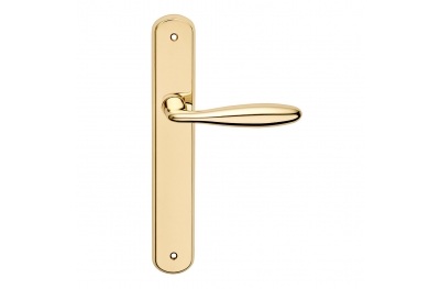 Luxor Series Basic forme Door Handle on Plate Frosio Bortolo Curvy Shape