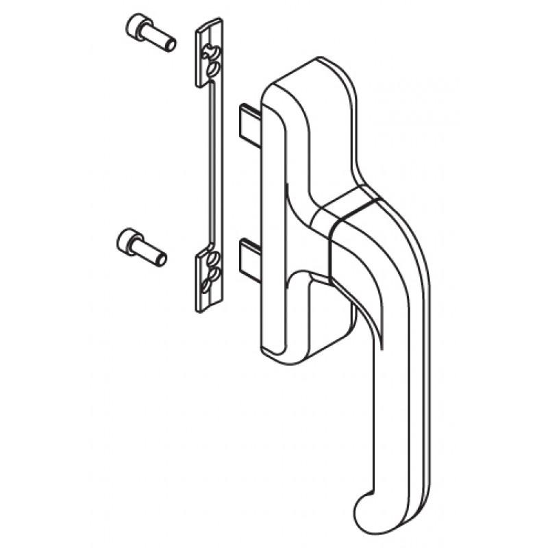 Handle Window Cremonese Giesse Euro Ambidextrous Bidirectional Anta