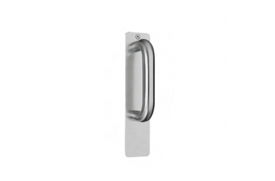 pba 2211 Fixed Pull Handle on Rectangular Plate in Stainless Steel
