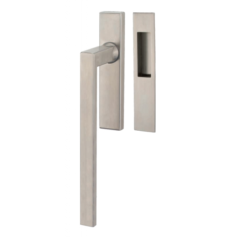 Lift & Slide handle Tropex Genève in Satin Steel